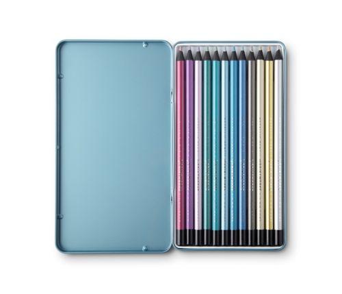 Printworks 12 Colour Pencils - Metallic