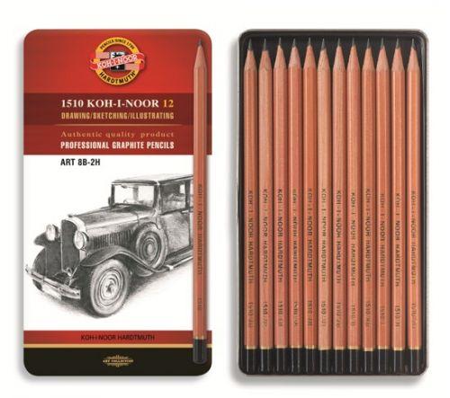 Set of 12 Graphite Pencils 1512 N
