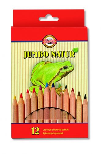 12 Grooved Colouring Pencils