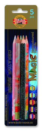 5 Multi Coloured Magic Pencils