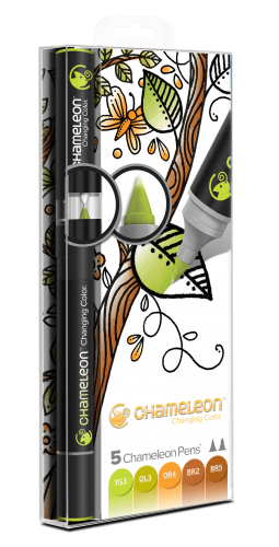 Chameleon Art Products Pens Earth Tones of 5
