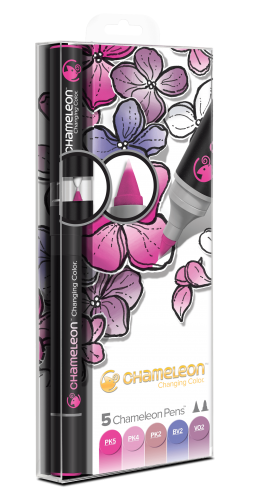Chameleon Art Products Pens Floral Tones Set of 5