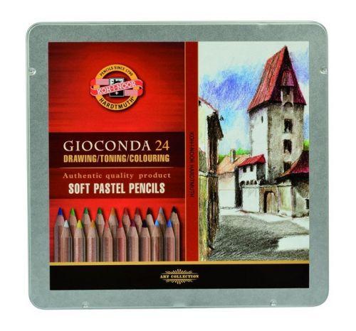 24 Soft Gioconda Pencils in tin