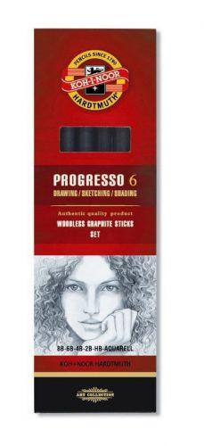 6 Progressp Woodless Pencils, Pencil Art, Koh-I-Noor