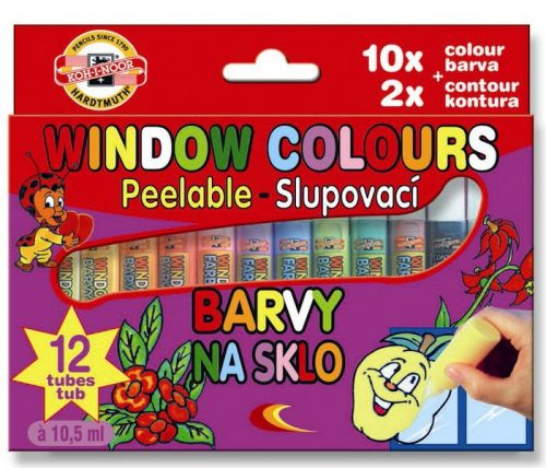 12 Window Colour Paints, Koh-I-Noor