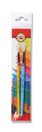 2 round paint brushes for kids