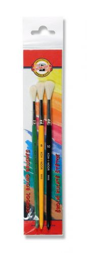 3 Round brushes for children