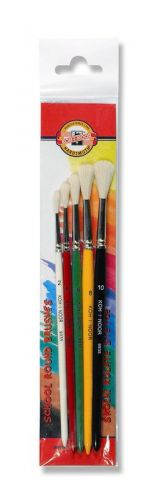 5 Round brushes for young artists