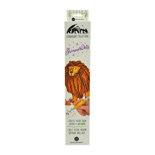 Shimmer Dots - Diamond Art Craft Kit - Arthur the Lion
