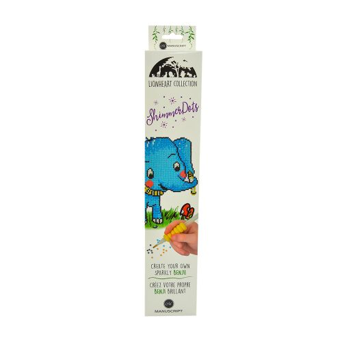 Shimmer Dots - Diamond Art Craft Kit - Benji the Elephant