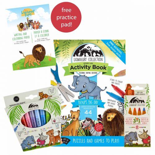 The Lionheart Tales Children's Colouring Set
