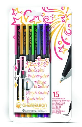 Chameleon Art Products Fineliners 6 pack Primary Colors