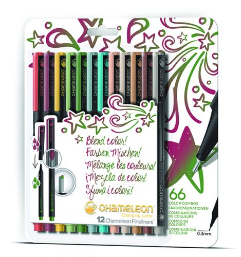 Chameleon Art Products Fineliners 12 Pen Designer Colors Set