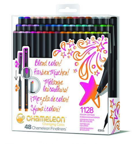 Chameleon Art Products Fineliners 48 Pen Brilliant Colors Set