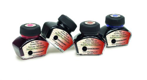 Ass. 4 Bottles - Calligraphy Black, Blue, Sepia, Red