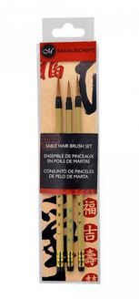 Sable Hair Calligraphy Brush Set