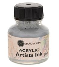 Metallic Silver Acrylic Ink
