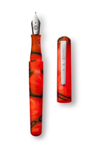 Molten Lava Fountain Pen Med Handwriting Nib