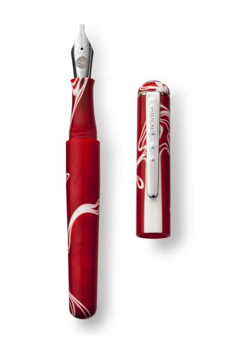 Red Storm Fountain Pen Italic 1.1 Nib