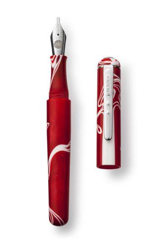 Red Storm Fountain Pen Italic 1.1 Nib