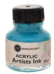 Turquoise acrylic ink