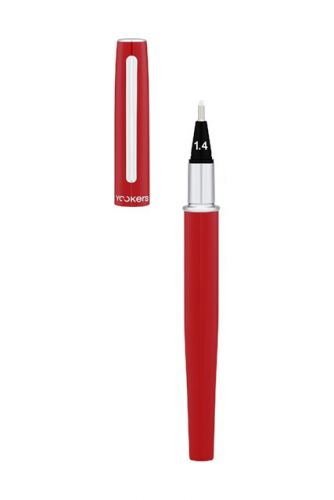 Yookers Yooth 751 Refillable Fibre Tip Pen in Imperial red lacquer - Cap off