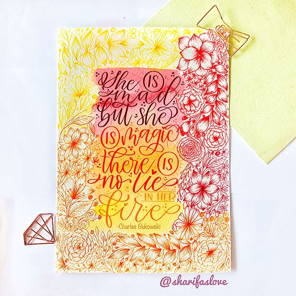 How to to create your own Brush Lettering Doodle!
